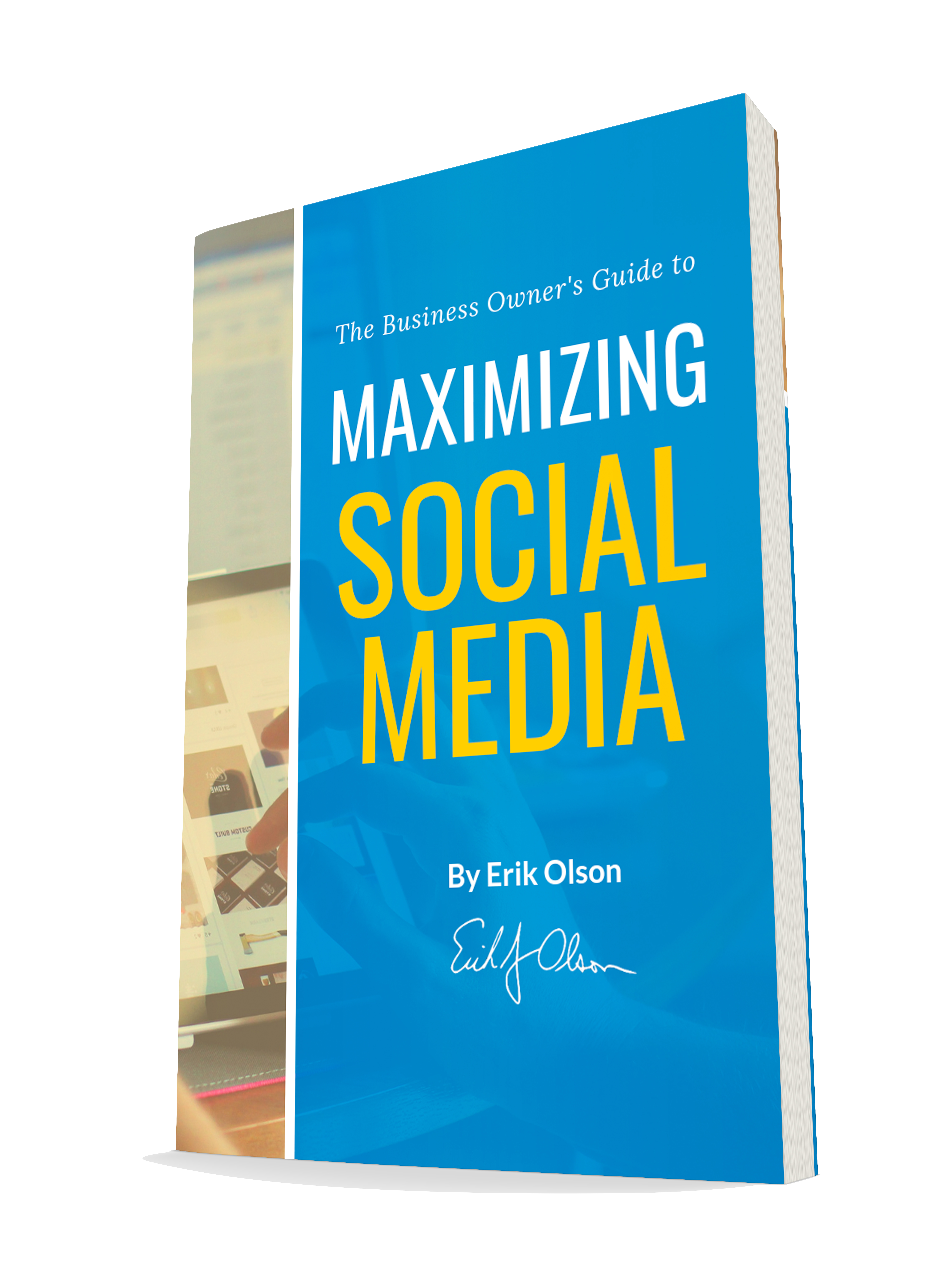 social media landing page book cover